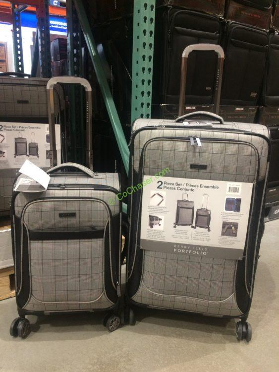 Perry Ellis Portfolio 2 Piece Softside Luggage Set