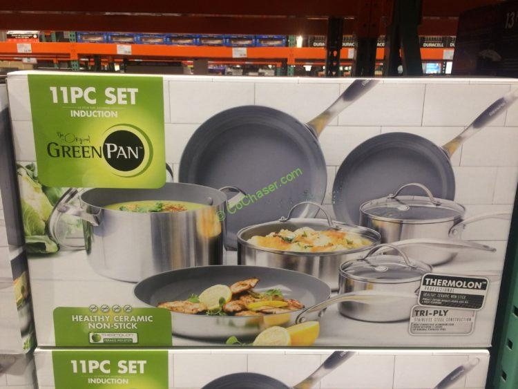 Greenpan 11PC Stainless Steel Tri-PLY Cookware Set