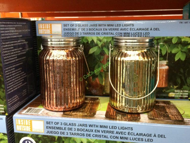 Glass Jar Lights 3-pack