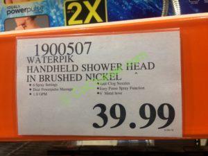 Costco--1900507 Waterpik-Handheld-Shower-Head-in-Brushed-Nickel-tag