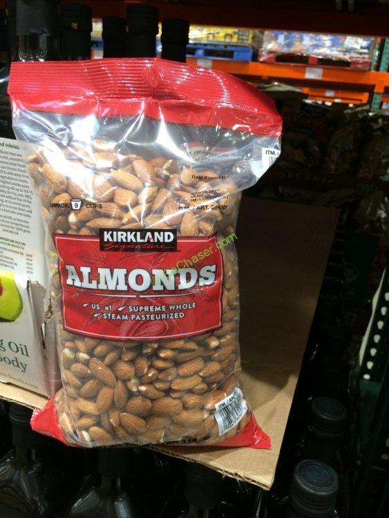 Kirkland Signature Whole Almonds 3 Pond Bag
