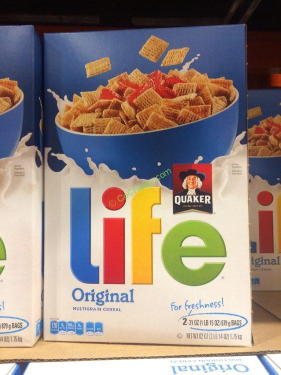 Quaker Life Cereal 62 Ounce Box
