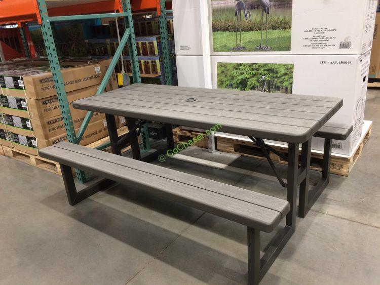 Costco 1500150 Lifetime Products Folding Picnic Table