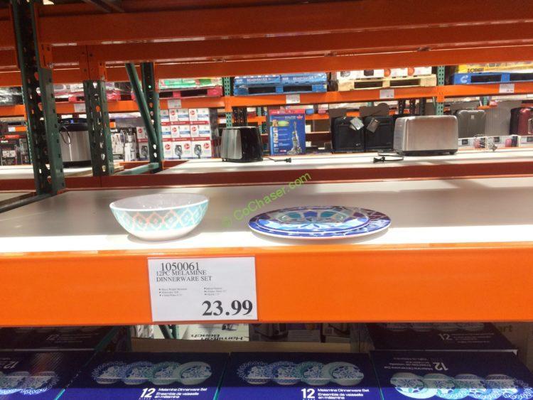 Costco-1050061-12PC- Melamine-Dinnerware-Set