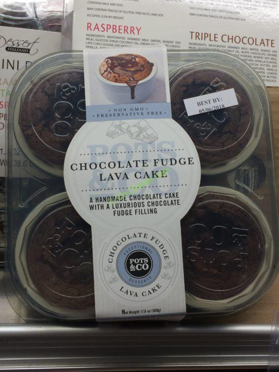 Pot & Co Choc Fudge Lava Cake 4/4.4 Ounce Containers