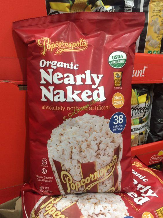 Popcornopolis Organic Nearly Naked Popcorn 14 OZ Bag