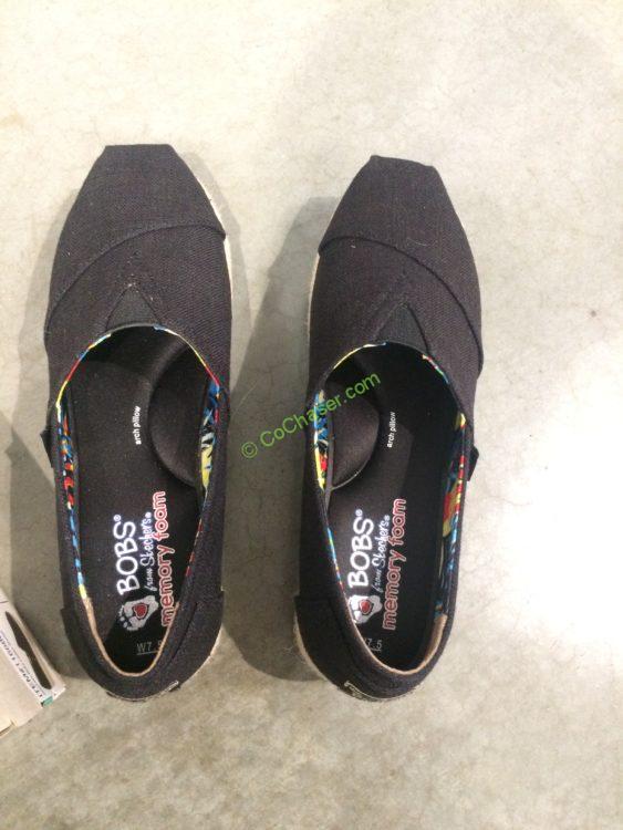 Skechers Bobs Ladies Canvas Wedge Shoe