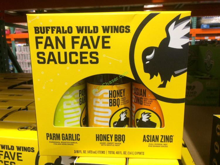 Buffalo Wild Wings Wing Sauce Variety 3/16 Bottles