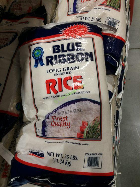 Blue Ribbon Long Grain Rice 25 Pound Bag