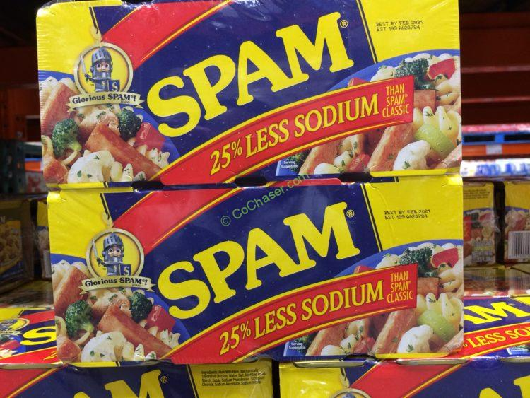 Spam Less Sodium 8/12 Ounce
