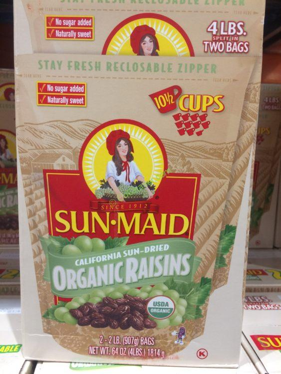 Sun Maid Organic Raisins 2/32 ounce Bags