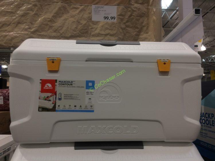 Igloo MaxCold Cooler, White, 165 Quart