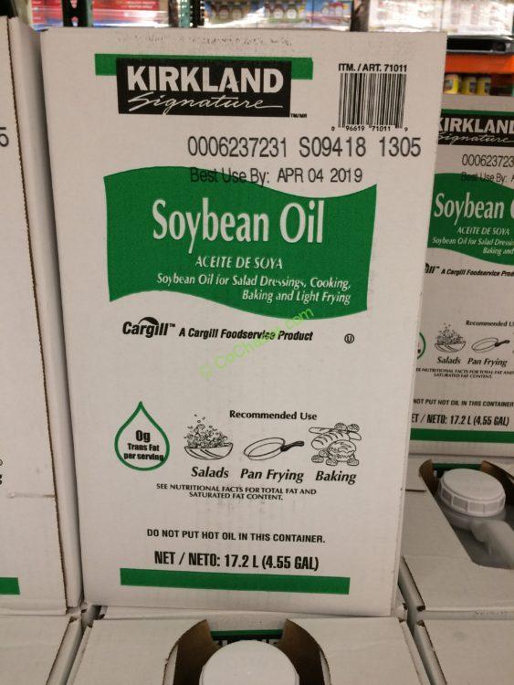 Kirkland Signature Soybean Oil 35 Pound Container