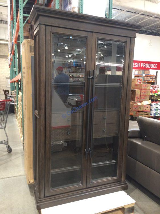 "78"" Glass Door Bookcase"