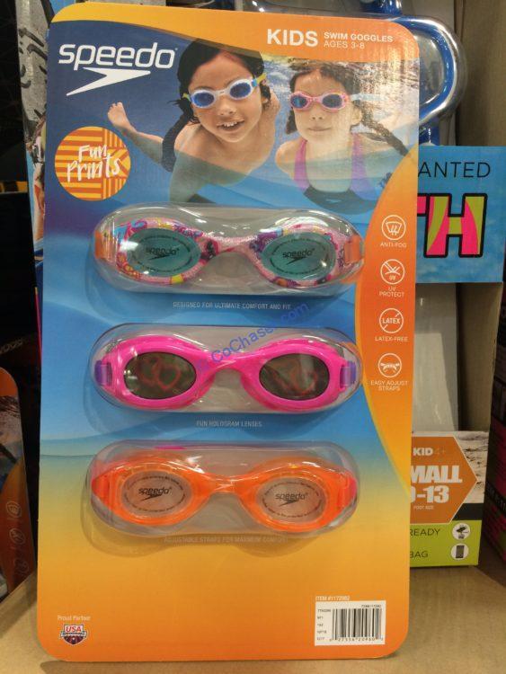 Speedo Kids Hydrospex Googles 3 Pack