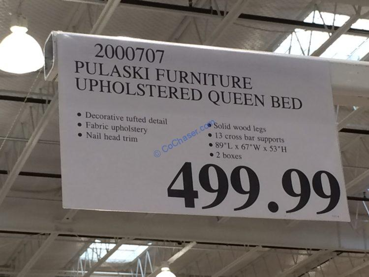 Costco-2000707-Pulaski-Furniture-Upholstered-Queen-Bed-tag