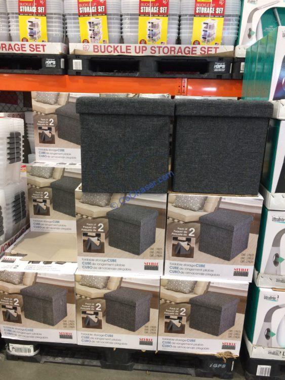 Seville Classics 2PK Fabric Storage Cube