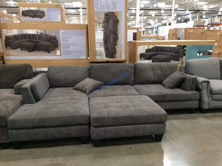Bainbridge Fabric Sectional with Ottoman, Model#COU4359-03M-3PCSET-K