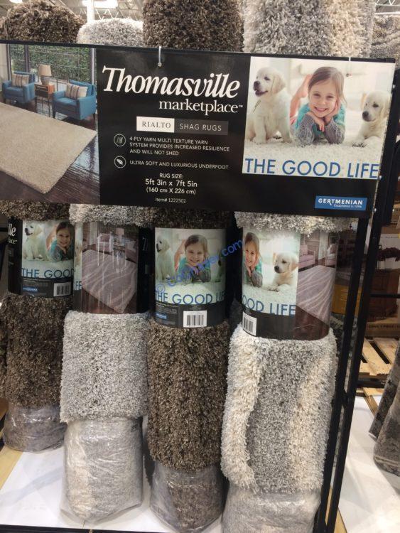 "Thomasville Rialto Shag Rug, 5'3"" x 7'5"""