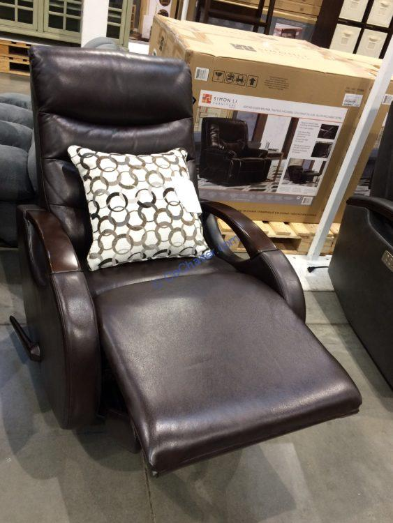 True Innovations Leather Glider Recliner, Model# 750-9064-94