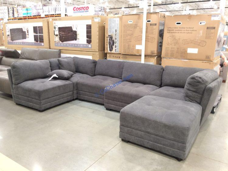 Costco-2000701-6PC-Fabric-Modular-Sectional
