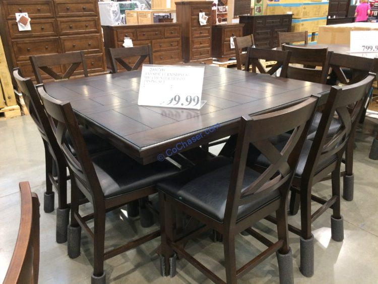 Bayside Furnishings 9PC Counter Height Dining Set