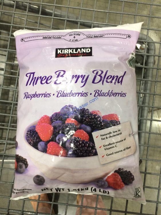 Kirkland Signature Three Berry Blend 4 Pound Bag