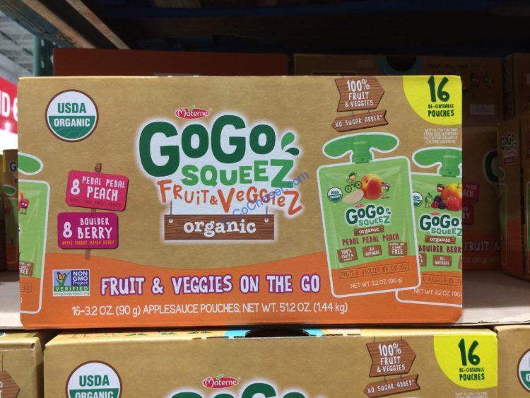 GOGO Squeeze Organic Fruit & Veggie 16/3.2 Ounce Pouchesc