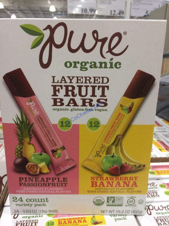 Pure Organic Layer Fruit Bar 24 Ct