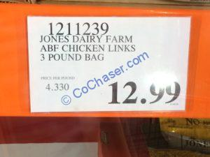Costco-1211239-Jones-Dairy-Farm-ABF-Chicken-Links-tag