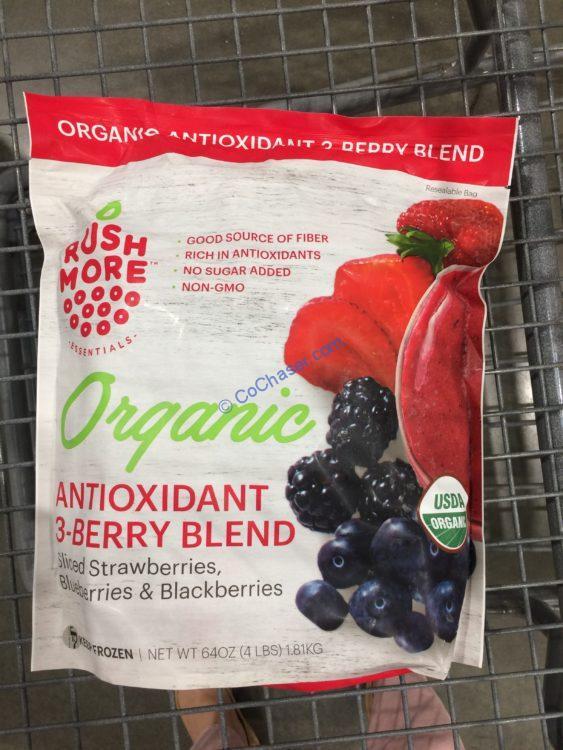 Rushmore Essentials Organic 3 Berry Blend 4 Pound Bag