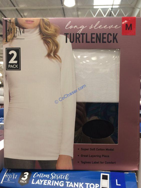 Felina Ladies Long Sleeve Tee or Turtleneck 2PK