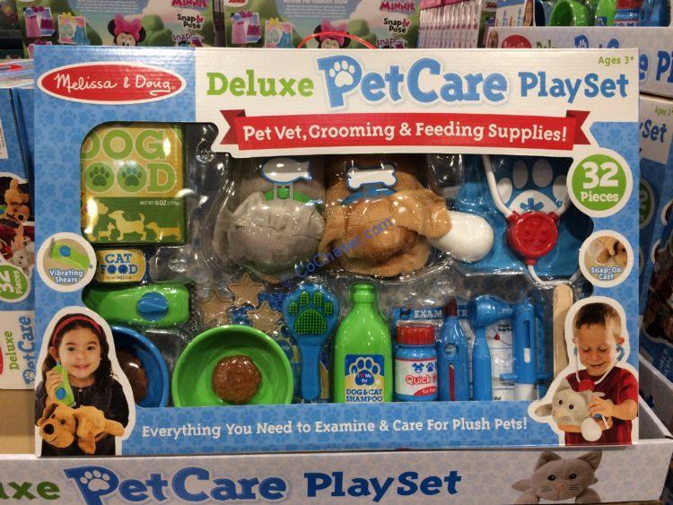 Melissa & Doug 32 Piece Deluxe Pet Care Play Set