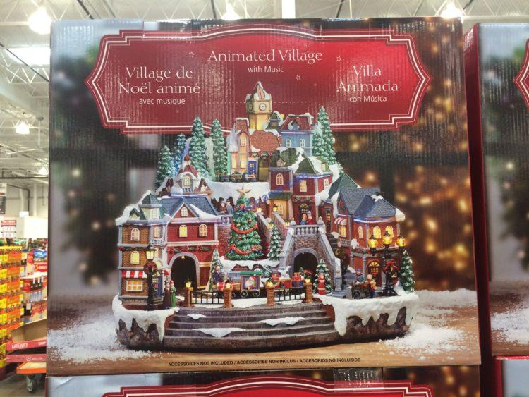 Winter Village with Lights and Sound