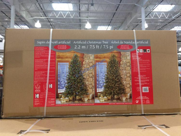 Costco-1900230-7.5-Pre-Lit-LED-Christmas-Tree-box
