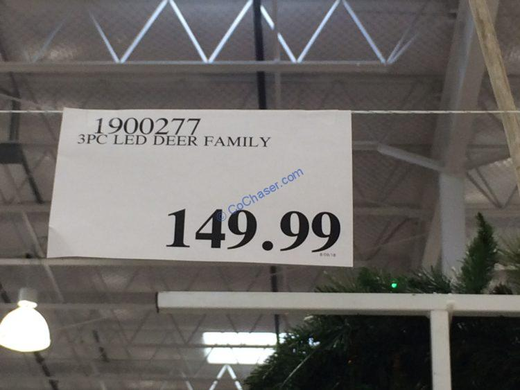 Costco 1900277 3pc Led Deer Family Tag Costcochaser