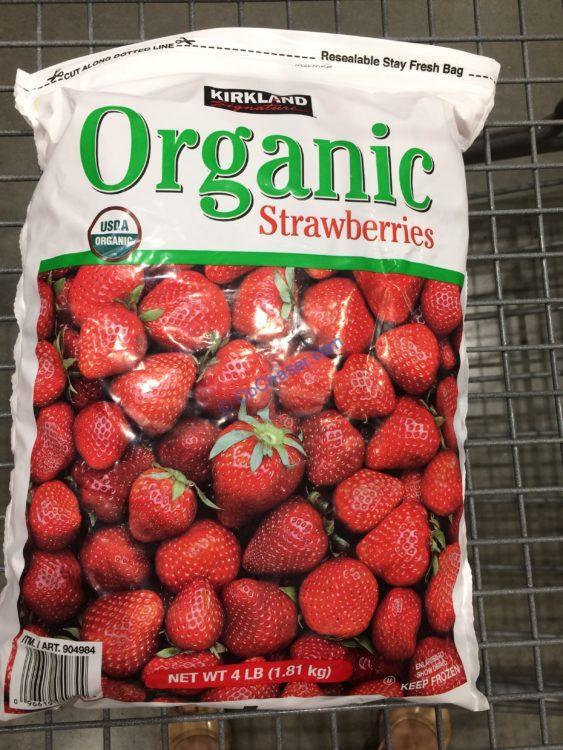 Kirkland Signature Organic Strawberries 4 Pound Bag