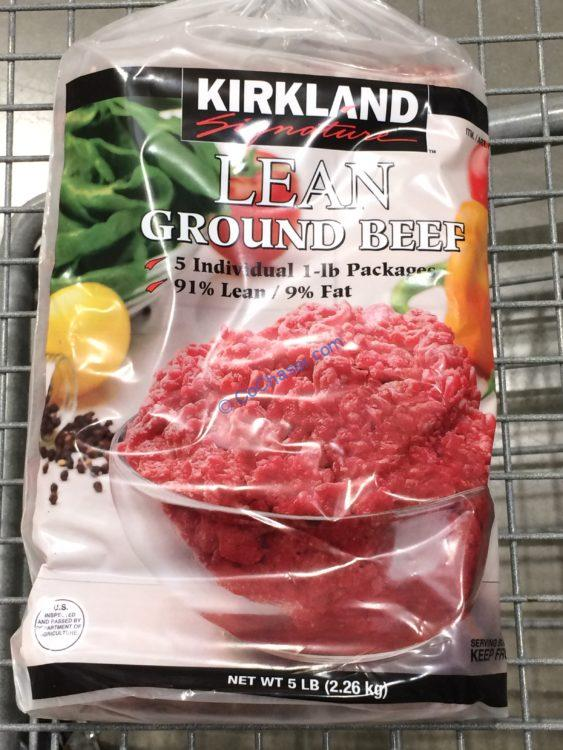 Kirkland Signature 91% Lean Ground Beef 5/1 Pound CHUBs