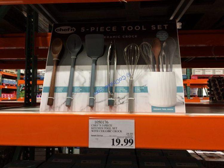 Chef'n 5-piece Kitchen Tool Set with Ceramic Crock
