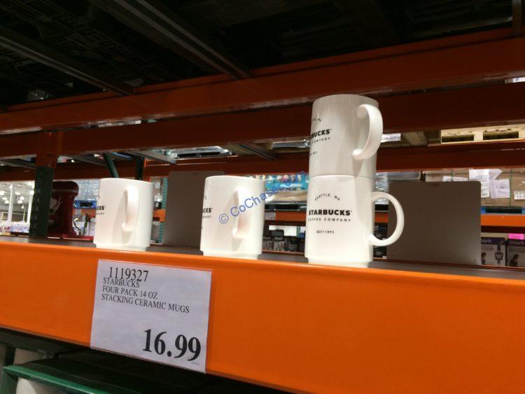 Starbucks Four Pack 14 OZ Stacking Ceramic Mugs