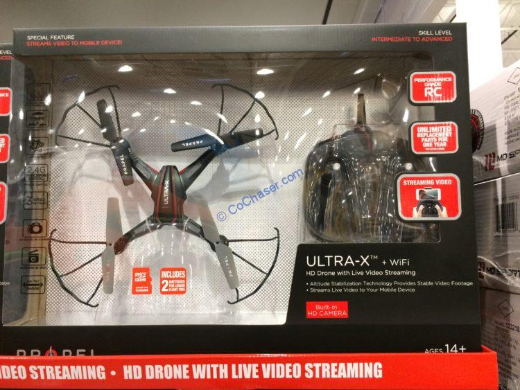Propel Ultra-X + WiFi HD Drone with Live Video Streaming