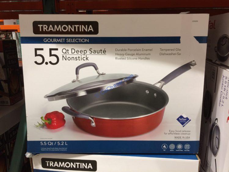Tramontina 5.5QT Deep Sauté Pan with Lid