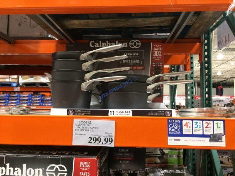 Calphalon Premier 11 Piece Space Saving Cookware Set