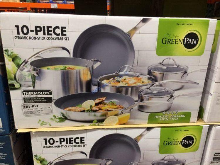Greenpan 10PC Stainless Steel Nonstick Cookware Set