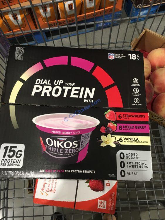 Dannon OIKS Triple Zero Yogurt 18/5.3 Ounce Cups