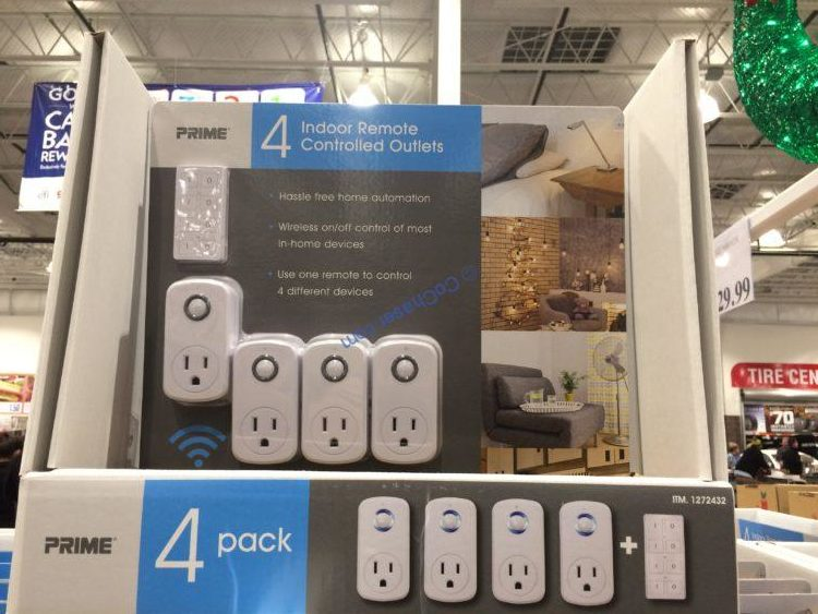 Prime Wireless Remote Outlet Indoor 4PK