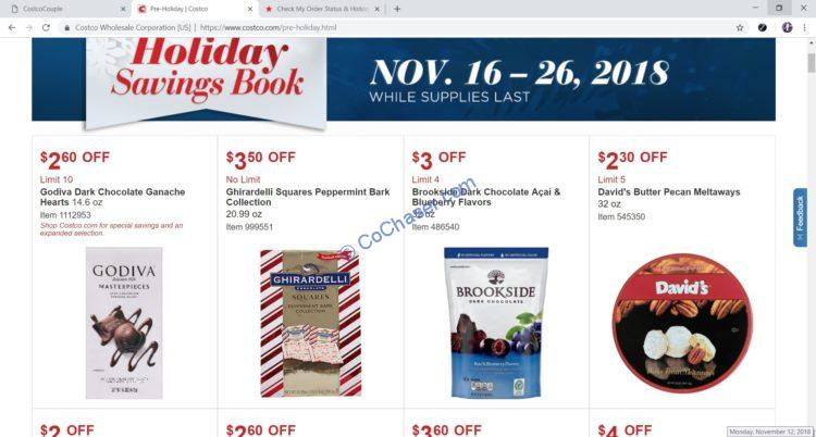 Costco Pre Holiday Savings: November 16 – 26, 2018