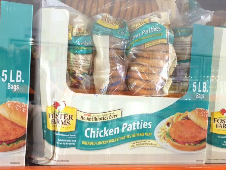 Foster Farms NAE Chicken Patties 5 Pound Bag