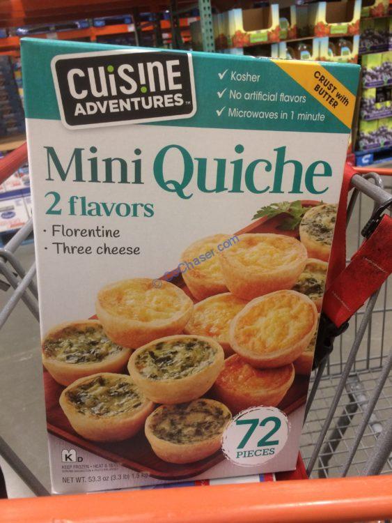 Cuisine Adventures Kosher Mini Quiche 72 Count Box – CostcoChaser