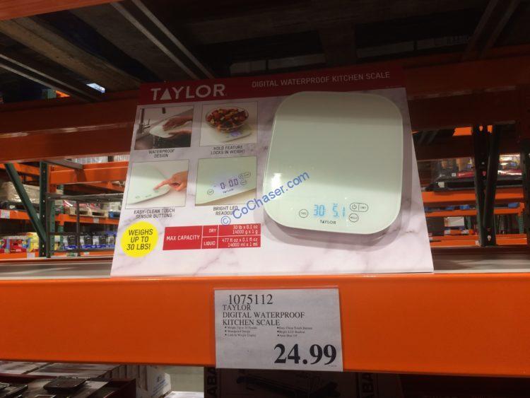 Taylor Digital Waterproof Kitchen Scale, Model# 39194CUS